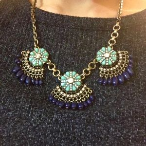 J. Crew Fan Fringe Statement Necklace